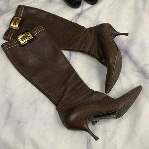 PRADA Brown leather boots eu34.5